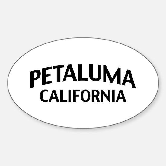 Petaluma California Sticker (Oval)