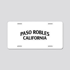 Paso Robles California Aluminum License Plate