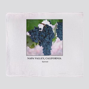 Napa Valley Wine Country Gift Throw Blanket