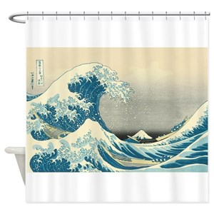 Great Wave Shower Curtains
