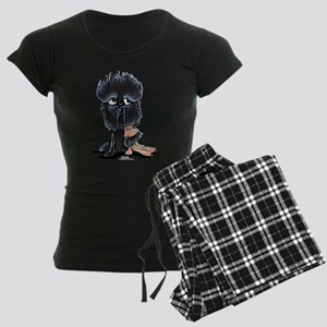 Affenpinscher Pattern Women's Dark Pajamas