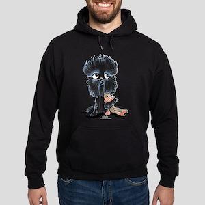 Affenpinscher Pattern Hoodie (dark)