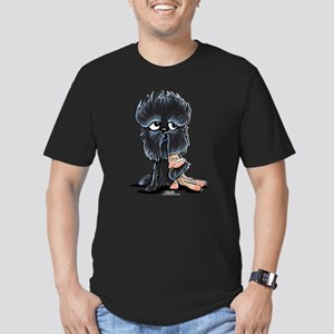 Affenpinscher Pattern Men's Fitted T-Shirt (dark)