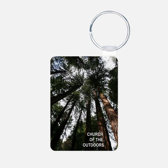 Church Of The Great Outdoors Keychains