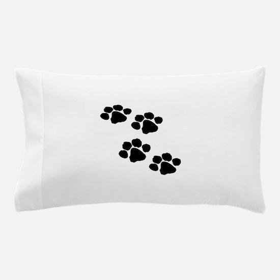 Pet Paw Prints Pillow Case