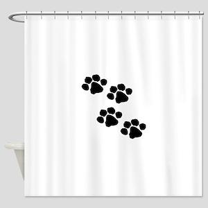 Pet Paw Prints Shower Curtain