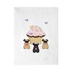Pug Dog Cupcakes Twin Duvet