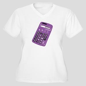 Boobs Calculator Women's Plus Size V-Neck T-Shirt