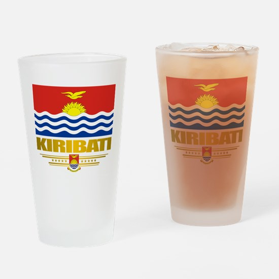 """""""kiribati Flag"""" Drinking Glass"""