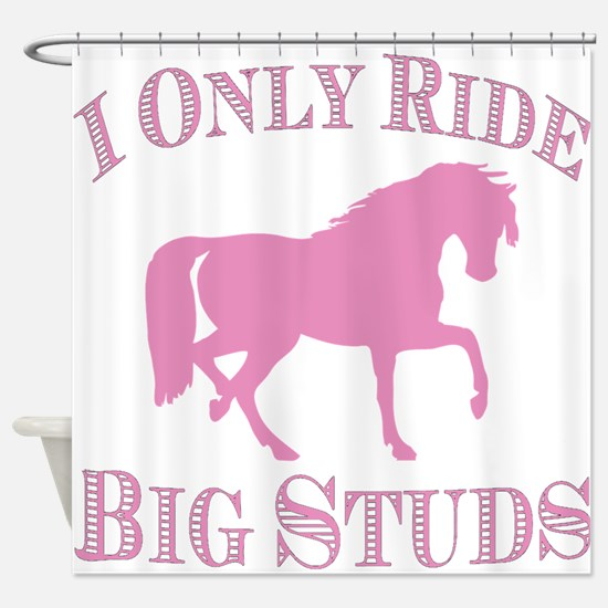Big Studs - Prancing - Pink Shower Curtain
