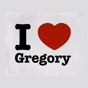 I love Gregory Throw Blanket
