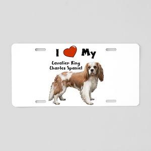 I Love My Cavalier King Charl Aluminum License Pla