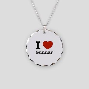 I love Gunnar Necklace Circle Charm
