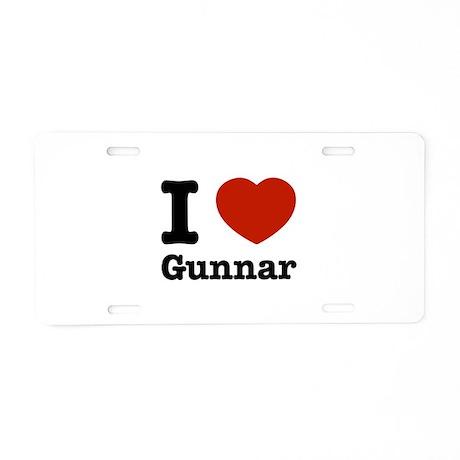 I love Gunnar Aluminum License Plate