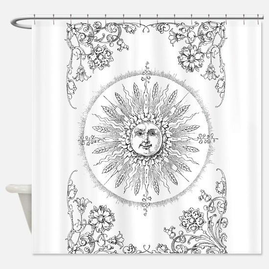 Unique Smiling sun Shower Curtain