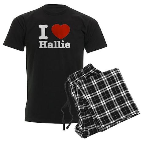 I love Hallie Men's Dark Pajamas