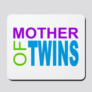MOTHER OF TWINS Mousepad
