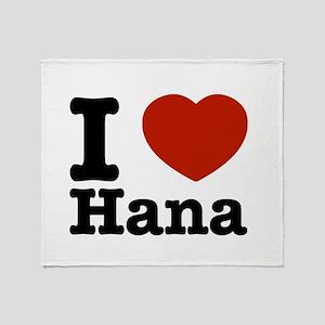 I love Hana Throw Blanket