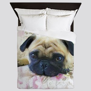 Pug Dog Queen Duvet