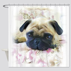 Pug Dog Shower Curtain