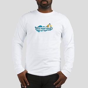 Race Point Beach - Surf Design. Long Sleeve T-Shir