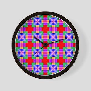 Squares and Angles Wall Clock
