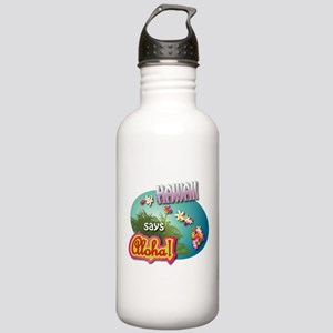 Hawaii says Aloha! Stainless Water Bottle 1.0L