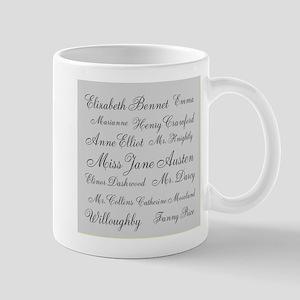 Jane Austen (silver) Mug
