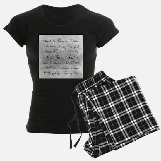 Jane Austen (silver) Pajamas