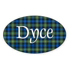 Tartan - Dyce Sticker (Oval)
