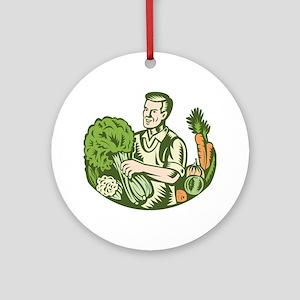Organic Farmer Ornament (Round)