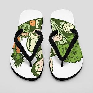 Organic Farmer Flip Flops