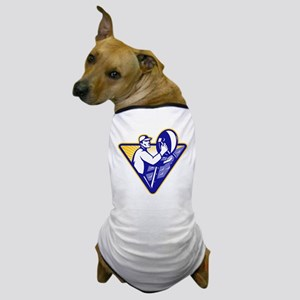 Satellite TV Installation Dog T-Shirt