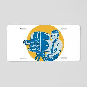 TV Cameraman retro Aluminum License Plate