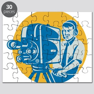 TV Cameraman retro Puzzle