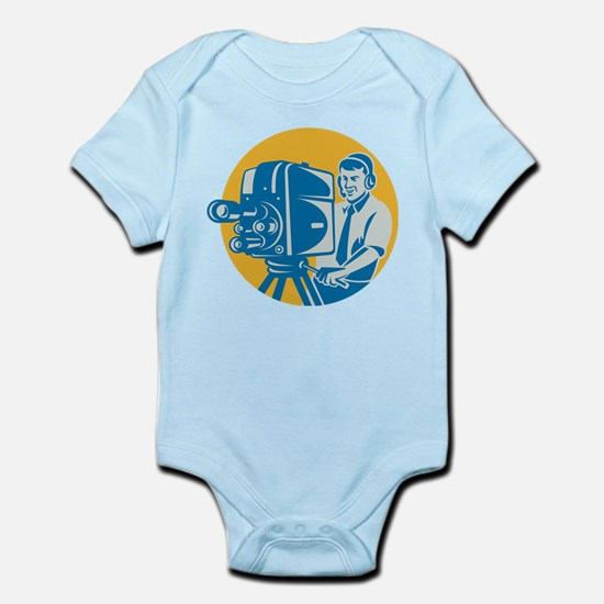 TV Cameraman retro Infant Bodysuit