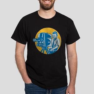 TV Cameraman retro Dark T-Shirt
