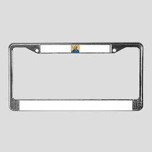 welder retro License Plate Frame