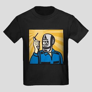 welder retro Kids Dark T-Shirt