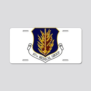 97th Medical Group Aluminum License Plate