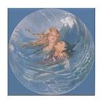 Tarrant's Little Mermaid Tile Coaster