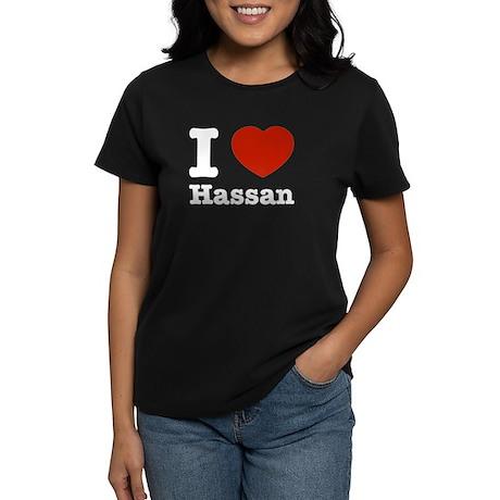 I love Hassan Women's Dark T-Shirt