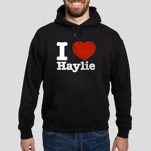 I love Haylie Hoodie (dark)