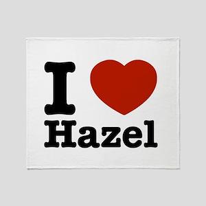 I love Hazel Throw Blanket
