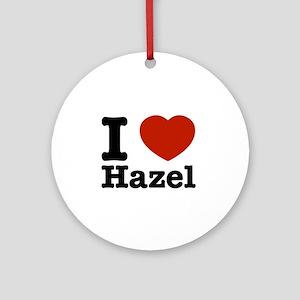 I love Hazel Ornament (Round)