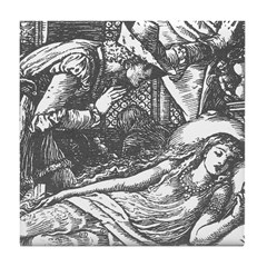 Crane's Sleeping Beauty Tile Coaster