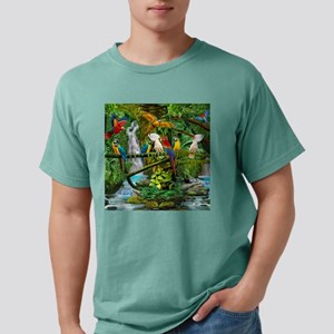 Parrots in Paradise Mens Comfort Colors Shirt