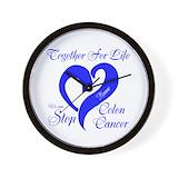 Colon cancer Wall Clocks