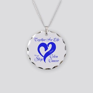 Personalize Front Necklace Circle Charm