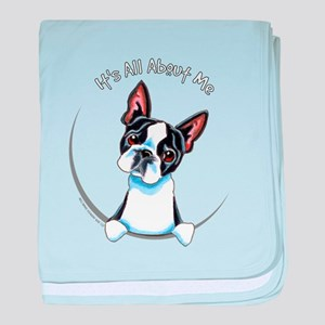 Boston Terrier IAAM Full baby blanket